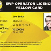 Yellow Card a Proof of Professional Access Equipment Training